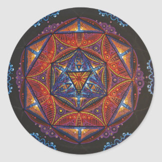 Compass Mandala Round Sticker