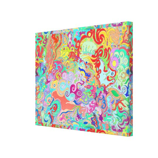 Compass Multicolour Bold Organic Living Art Design Canvas