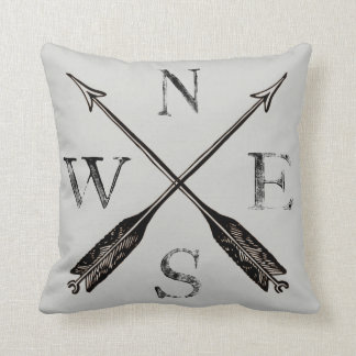 Compass Pillow: North, South, East & West Cushion