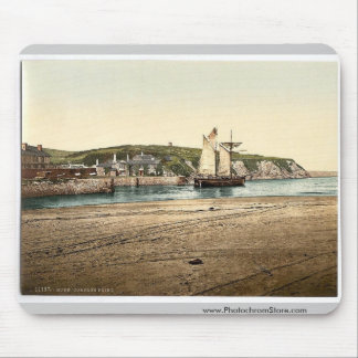 Compass Point, Bude, Cornwall, England vintage Pho Mouse Mat
