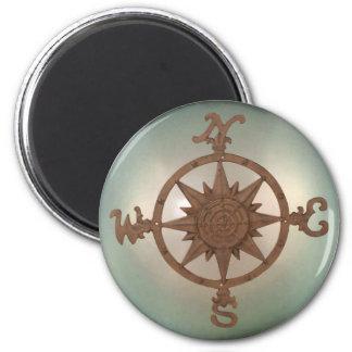 Compass Rose 2 6 Cm Round Magnet