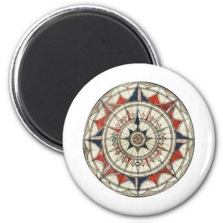 Compass Rose #5 6 Cm Round Magnet