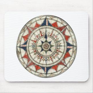Compass Rose #5 Mouse Mat