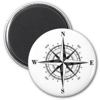 compass rose 6 cm round magnet