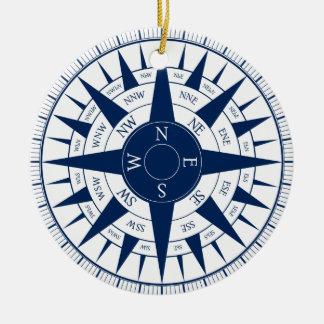 Compass Rose Christmas Ornament