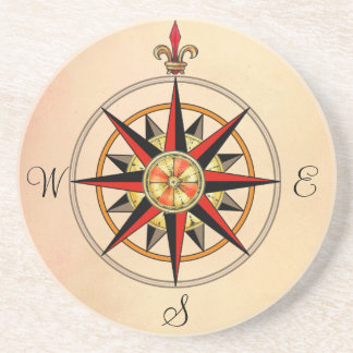 Compass Rose Drink Coaster