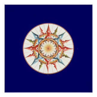 compass rose for walls poster