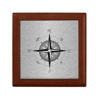 Compass Rose Small Square Gift Box