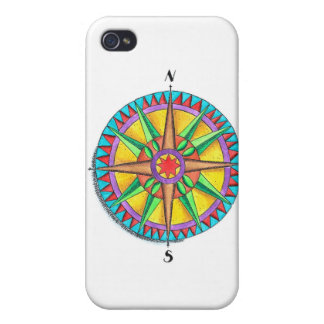 Compass Rose iPhone 4 Cover