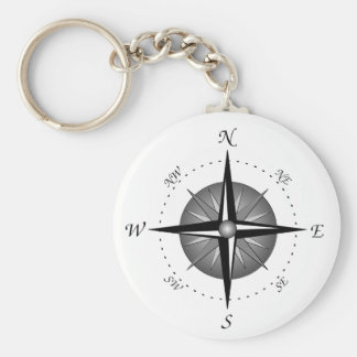 Compass Rose Key Ring