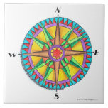 Compass Rose Large Square Tile