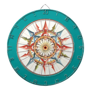 compass rose - mandala dartboard