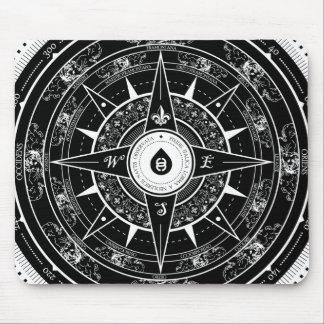 Compass Rose - Mousepad (Black)