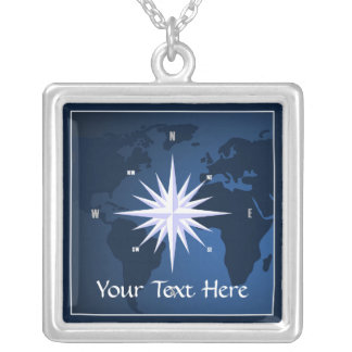 Compass Rose Nautical Necklace