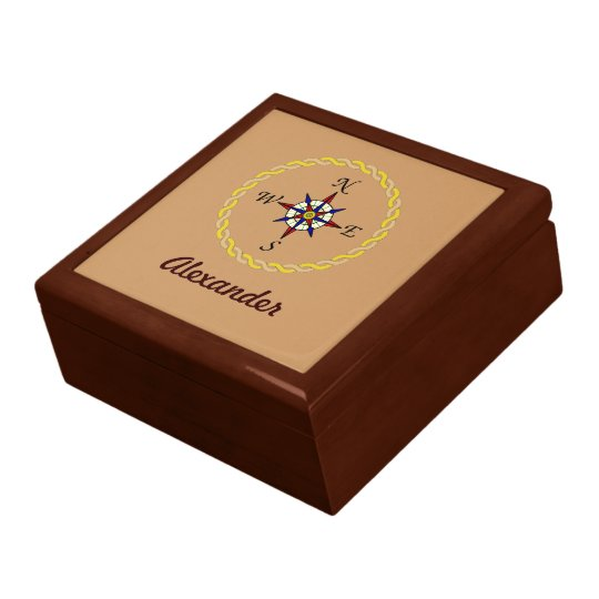 Compass Rose Personalised Gift Box