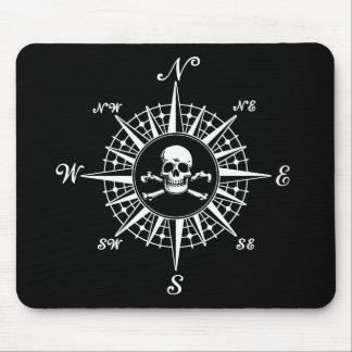 Compass Rose Skull 1 Mouse Mat