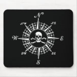 Compass Rose Skull 1 Mousemat