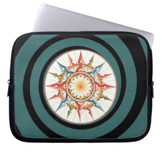 compass rose spiral laptop computer sleeves
