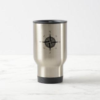 Compass Rose Stainless Steel Travel Mug