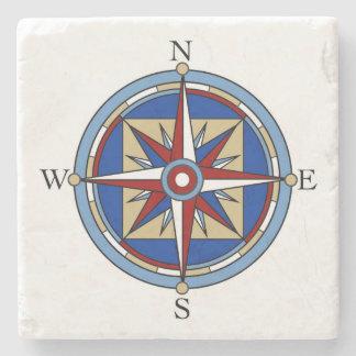 Compass Rose Stone Coaster