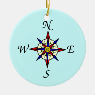 Compass Rose Tree Ornament