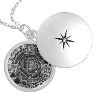 Compass Rose - Victorian Gothic Steampunk Locket Necklace