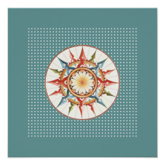 compass rose wall prints poster