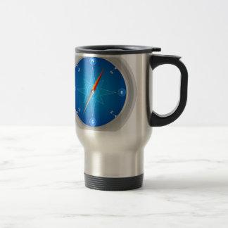 Compass Safari Navigation Stainless Steel Travel Mug