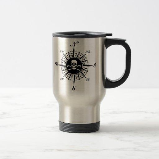 Compass Skull Coffee Mug