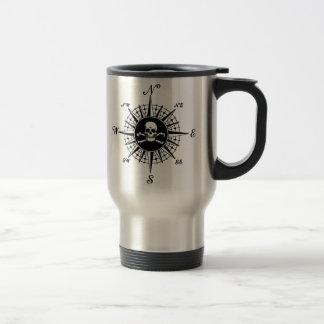 Compass Skull Stainless Steel Travel Mug
