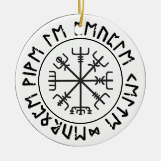 Compass Viking Christmas Ornament