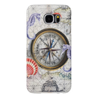 Compass Vintage Nautical Samsung Galaxy S6 Cases