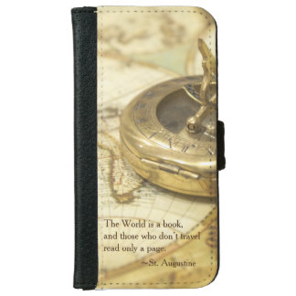 Compass World Travel Map iPhone 6 Wallet Case