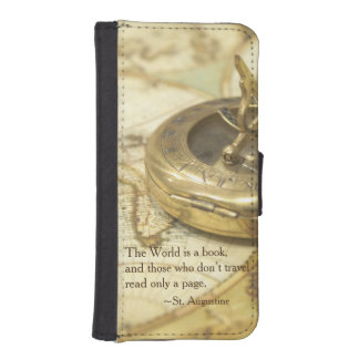 Compass World Travel Map iPhone SE/5/5s Wallet Case