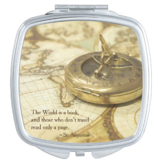 Compass World Travel Map Travel Mirror