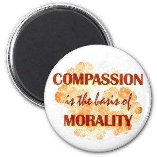 Compassion 6 Cm Round Magnet