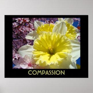 COMPASSION art prints Spring Inspirational Floral Poster