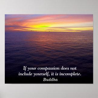 Compassion - Buddha quote - art print