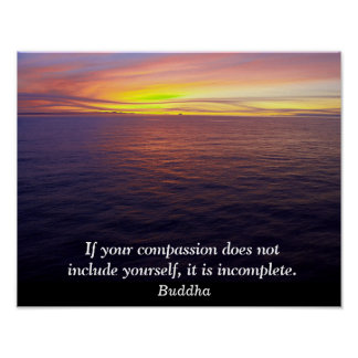 Compassion - Buddha quote - art print Poster