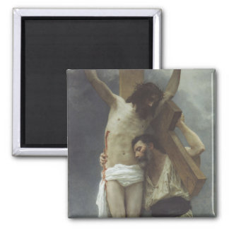 Compassion by William Bouguereau Square Magnet