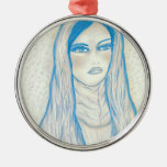 Compassionate Mary - In Blues Ornament