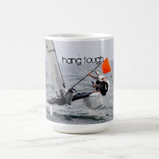 Competition Sailing Catamaran Picture Basic White Mug