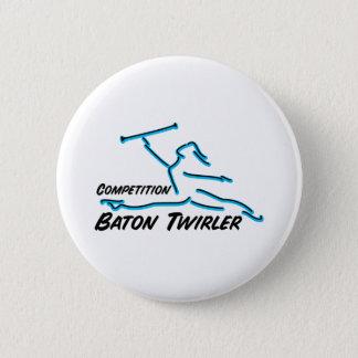 Competition Twirler 6 Cm Round Badge
