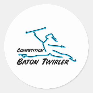 Competition Twirler Classic Round Sticker
