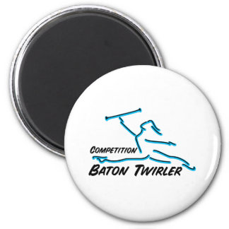 Competition Twirler Fridge Magnet