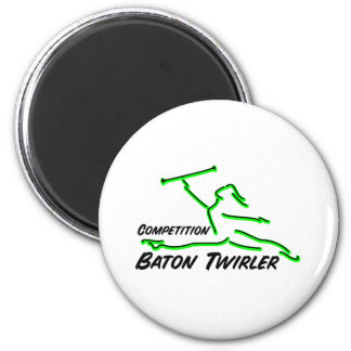Competition Twirler Refrigerator Magnet