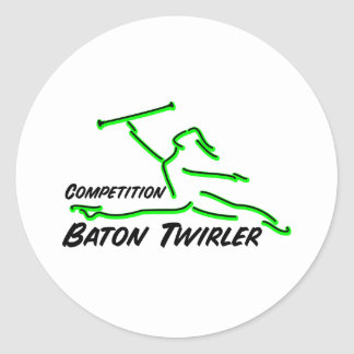 Competition Twirler Stickers