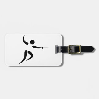 Competitive and Olympic Fencing Pictogram Bag Tag