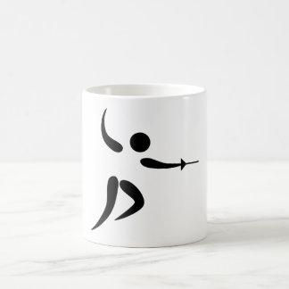 Competitive and Olympic Fencing Pictogram Basic White Mug