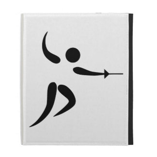 Competitive and Olympic Fencing Pictogram iPad Case